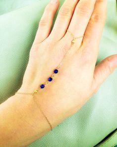 slave braceletHand chain bracelet Gold filled by ThistleandThatch, $22.00
