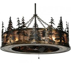 """45"""" Wide Tall Pines With Uplights Chandel-Air - #135769 - $2853.00"""