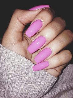 do you like long nails? x Barbie pink Fabulous Nails, Perfect Nails, Gorgeous Nails, Pretty Nails, Get Nails, How To Do Nails, Hair And Nails, Hair Gel, French Nails Glitter