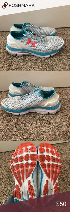 Women's Under Armour Speedform Gemini Running Shoe Women's Under Armour Speedform Gemini. Size 8.5.  Comfy shoe great for running. Super soft sole and quick heel to hoe shape make this shoe versatile. Very cute color way. Lightly worn. Price is negotiable. Under Armour Shoes Athletic Shoes