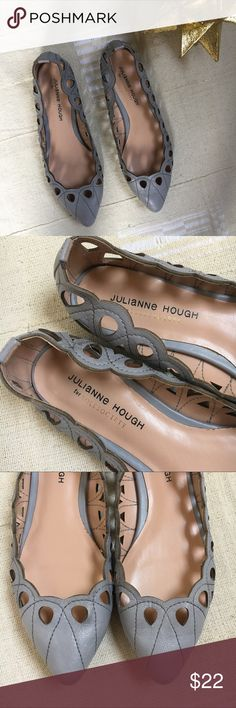Julianne Hough Karlene cutout scallop pointy flats