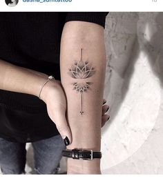 Lotus tattoo dot work