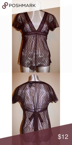 NWT New York & Company sheer top sz Xsmall You can see right through the top. It also ties in the back. Tag still attached. New York & Company Tops Blouses