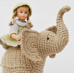 elephant trunk up crochet pattern