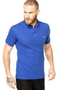 Camisa Polo Lacoste Azul. C'est bien mais j'ai moins cher ailleurs, cependant boutique assez lointaine, la zone duty free d'Amsterdam Schipol