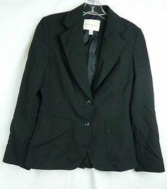 Banana Republic Women's Black Stretch 2 Button Front Wool Blend Blazer Size 4   eBay