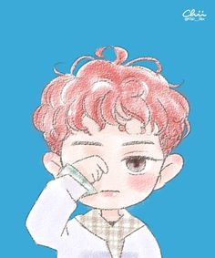 Lucky One - Chanyeol Fanart Baekhyun Fanart, Park Chanyeol Exo, Kpop Fanart, Suho, Exo Anime, Anime Chibi, Exo Lucky One, Exo Cartoon, Exo Album