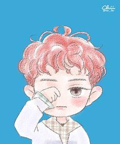 chii en Twitter: •160606 #Fanart #Chanyeol #EXO #LuckyOne Cr: Chii___iihc