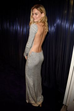 Pin for Later: Even More Breathtaking: Your Favorite Golden Globes Dresses From Behind Bar Refaeli We're guessing there was a lot of double-sided tape involved in helping Bar's backless afterparty dress stay put.