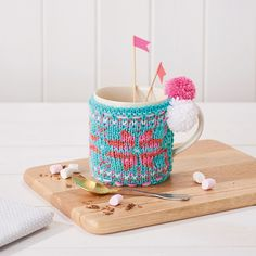 Fair Isle knitting pattern - How to knit mug cosies - Mollie Makes 71