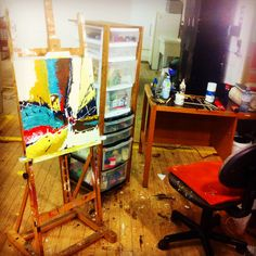 Studio time!! Trying to finish 15 new paintings by next week! ;) #art #painting #abstract #studiolife #pintando