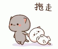Cute Anime Cat, Cute Cat Gif, Cute Baby Cats, Cute Cartoon Images, Cute Love Cartoons, Cute Cartoon Wallpapers, Cute Bear Drawings, Cute Cartoon Drawings, Cute Love Pictures