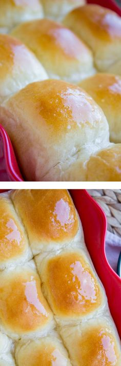 This is my aunt's famous dinner roll recipe! So light, so fluffy, SO much heavenly buttery goodness. Who needs dinner when you've got these dinner rolls? from The Food Charlatan.