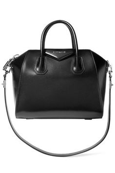 Givenchy - Small Antigona Bag In Black Leather by: Givenchy Givenchy's sought after 'Small Antigona' shoulder bag is crafted in Italy from the finest leather. This black design has a structured shape, generous interior and internal pockets for your smaller daily essentials.