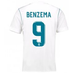 Real Madrid Karim Benzema 9 Replika Hjemmebanetrøje 17-18