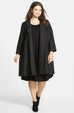 Eileen Fisher A-Line Coat (Plus Size) available at #Nordstrom