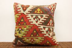 40 YRS OLD Kilim pillow cover 16 x 16 by kilimwarehouse on Etsy, $53.00