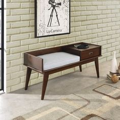 Shop for WYNDENHALL Tierney Mid-century Entryway Storage Bench. Get free shipping at Overstock.com - Your Online Furniture Outlet Store! Get 5% in rewards with Club O!