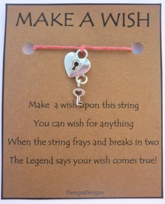 make a wish bracelet poem - Google Search
