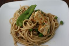 Noodles in Thai Curry Sauce with Tofu