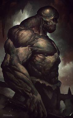 cyclops 102 by todor hristov The Art of Atomhawk Design: Volume 1 Fantasy Wizard, Fantasy Monster, Monster Art, Fantasy Warrior, Mythological Creatures, Fantasy Creatures, Mythical Creatures, Dark Fantasy Art, Fantasy Artwork