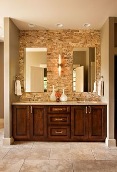 Corner Double Sink Vanity Cabinet With Brown Varnished Oak Doors And Drawers Dazzling Bathroom Cabinets