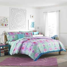 Crayola Pointillist Pansy 3-piece Comforter Set - 17415434 - Overstock.com Shopping - The Best Prices on Crayola Kids' Comforter Sets