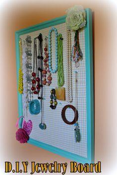 Angela's Adventures: DIY Jewelry Board