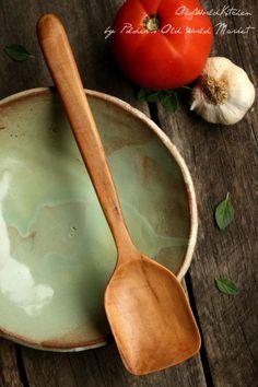 Small Roux Spoon  Wooden Sauce Spoon  Elegant by OldWorldKitchen