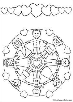 Mandala et frise de enfants du monde