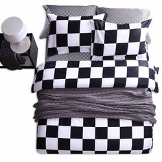 Black And White Checkered Bed Sheets Online Get Cheap Black King
