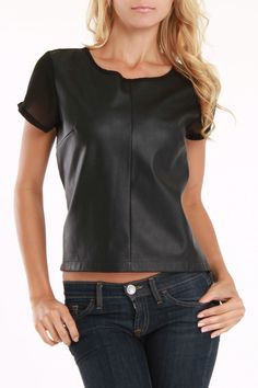 apparently leather is in style right now and I kinda like this faux leather tee