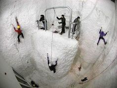 Ice Climbing Gym in Scotland Looks like fun!!
