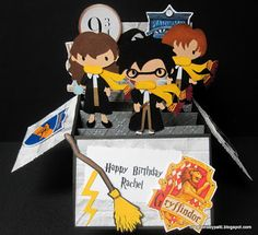 Creations by Patti: Harry Potter Birthday Box Card