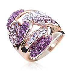 #hallobeauty#Purple Petals Ring - Rings - Women's - Jewelry