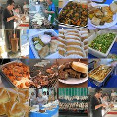 An appetizer of Greek foods