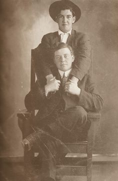 A series of photos of men showing affection to each other from the 19th and 20th century. No source is given for any of these, but you can find a lot more at the linked url. Great photos.