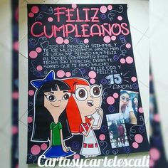 Cartel en cartulina negra 1 metro | Wsp : 3205797879 Cute Birthday Gift, Bff Birthday, Friend Birthday Gifts, Bullet Journal Ideas Pages, Art Journal Pages, Couple Wallpaper, Happy B Day, Best Friends Forever, Creative Gifts