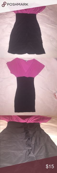 SEXY!! Hot Pink & Black Charlotte Russe SIZE XS SEXY!! Hot Pink & Black Charlotte Russe SIZE XS.. LIKE NEW!! WORE ONLY ONCE TO A PARTY!💞 Charlotte Russe Dresses Mini
