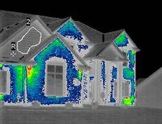 infrared photo comparison ICF home @ Common Sense Homesteading