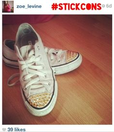 We love this pic that Zoe posted of her sneakers on Instagram!   Follow us on Instagram @Stickcons & use the #Stickcons Get creative, Get your bling on, customise your sneakers with Stickcons Kits STICKCONS.COM Love Pictures, You Got This, Sparkle, Bling, Facebook, Twitter, Creative, Sneakers, Beauty