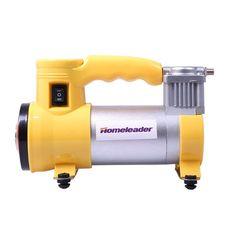 Portable Air Compressor Homeleader Mini air compressor 12V ,Multi Use Heavy Duty Tire Inflator for Car, Yellow and Silver, L33 001