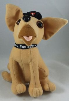 "Taco Bell Chihuahua 6"" Plush Toy ~ Stuffed Animal Dog"