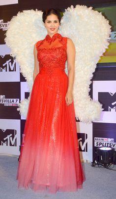 Sunny Leone at the launch of MTV Splitsvilla Season 7.