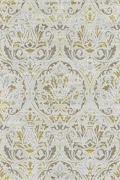 Dynamic Rugs Royal Treasure Amber/Mocha Demask Rectangle Area Rug