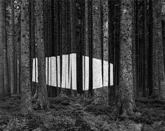Jan Imberi's art work. Wonderful and large scale, this installation / photograph is the creation of a super flattened space. Seems to be in the tradition of John Pfahl's Altered Landscapes and Jan Dibbets's Perspective Corrections.