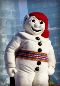 Bonhomme -- ambassador to the Quebec City Winter Carnival #Travel