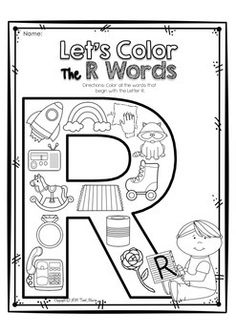 Alphabet Letter Of The Week Program - Alphabet Letter R Package Letter R Activities, Letter R Crafts, Preschool Letters, Learning Letters, Preschool Lessons, Preschool Learning, Teaching, Preschool Worksheets, Alphabet Worksheets