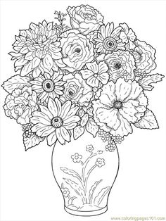 free printable coloring image Flower Coloring Pages 24