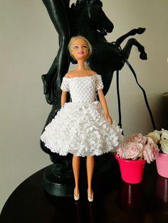 Miniaturas ganchillo Barbie y Más Cosas - UN POCO MAS Y alrededor de Los Pasos segunda parte del Inglés ganchillo vestido para Barbie - En Shell ...